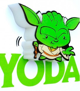 Lámpara pared 3D Star Wars Mini Yoda