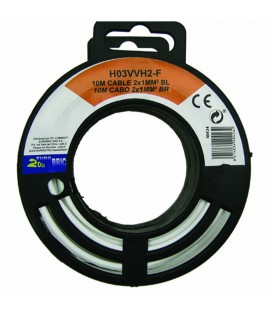 Cable manguera plana H05VVH2-F 2x1mm2 blanco