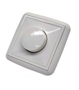 Interruptor-regulador iluminacion led blanco Serie Lotus