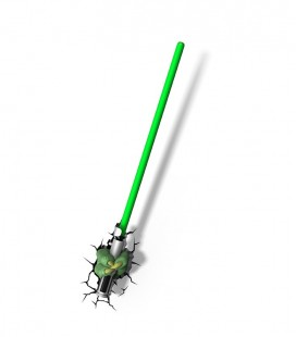 Luz quitamiedos 3D Star Wars YODA SABER