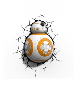 BB-8 Star Wars Lámpara pared 3D