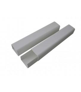 Canaleta con base para tuberias 70*60mm 2m