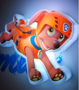 Lámpara infantil 3D Mini Patrulla Canina Zuma Light