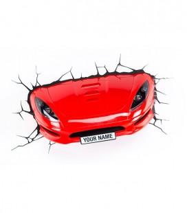 Lámpara pared 3D Light FX oficial coche deportivo rojo 3D Deco Pared Luz Noche Regalo