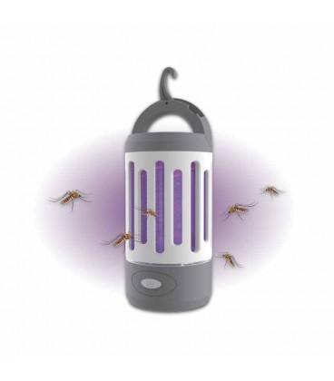 Lámara antimosquitos recargable 2 en 1 con linterna
