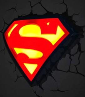 Lámpara pared 3D escudo Superman