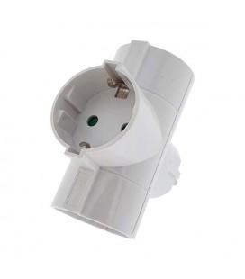 Adaptador triple 16A blanco