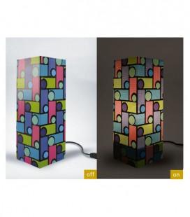 "Lámpara diseño papel ""Colors"" , Bombilla E14 (no incluida)"