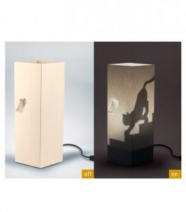 "Lámpara diseño papel ""Cat"" , Bombilla E14 (no incluida)"
