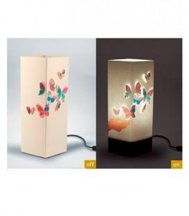 "Lámpara diseño papel ""Checia"", Bombilla E14(no incluida)"