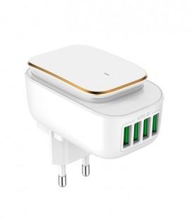 Luz guía LED (Touch control) regulable con Cargador 4 USB 4,4A