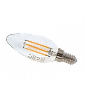 Bombilla Led Filamento 4w vela E14 2700K 430 lumens