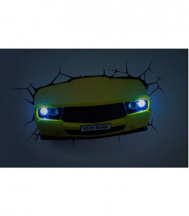 Lámpara pared 3D DECO LIGHT MUSCLE CAR AMARILLO