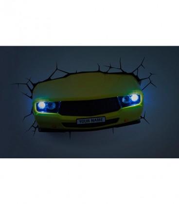 Luz quitamiedos 3D DECO LIGHT MUSCLE CAR AMARILLO