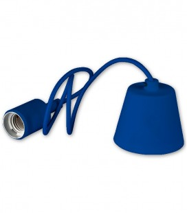 Colgante E27 max.60W Serie Silicona Azul