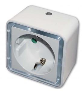 Luz de vigilia led con toma y sensor día/noche