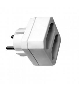 Adaptador 2 tomas europlug 10A frontal