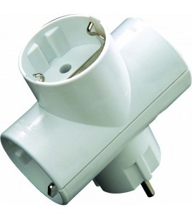Adaptador triple 16A blanco