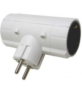 Adaptador doble lateral 16A blanco