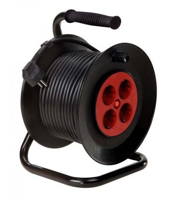 Enrollador tambor 4 TOMAS 25M H05VV-F 3G1,5+DS