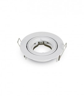 ARO 95x32mm ORIENTABLE ALUMINIO REDONDO ENCASTRABLE BLANCO