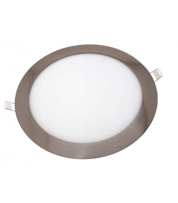 18W Panel LED empotrable cromado - Redondo Ø225
