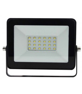 20W Proyector LED negro 6500K