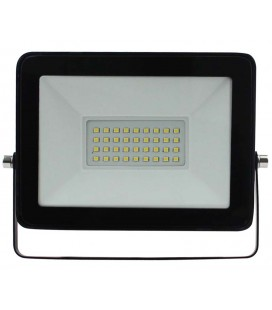 30W Proyector LED negro 6500K