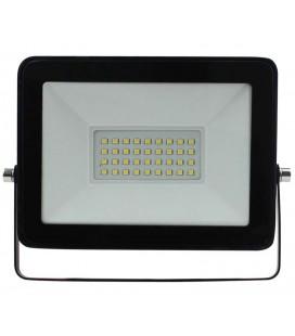30W Proyector LED negro 6400K