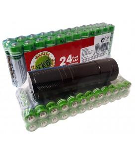 Pack 24 Pilas AAA + Linterna de Regalo