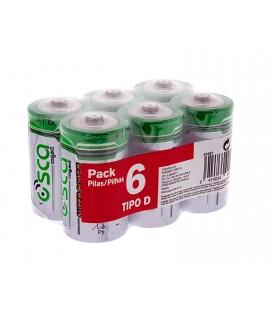 6 Pilas D R20 en pack