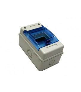 Caja distribución superficie 4 elementos 120x200x115 puerta transparente IP65