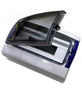Caja distribución superficie 12 elementos 270x250x160 puerta transparente IP65
