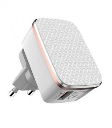 Cargador Dual USB 2,4A. Qualcomm technology 2.0 y Auto ID