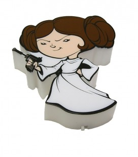 Lámpara 3D Star Wars Mini Leia
