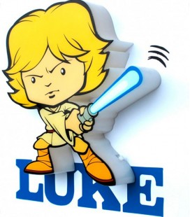 Luz quitamiedos 3D Star Wars Mini Luke