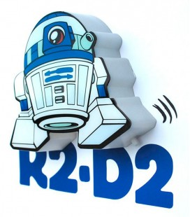Luz quitamiedos 3D Star Wars Mini R2-D2