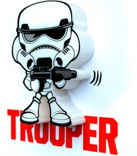 Luz quitamiedos 3D Star Wars Mini Storm Trooper