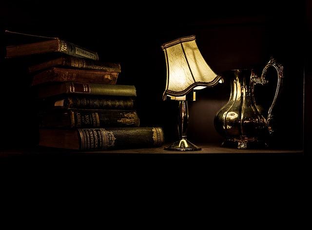 Lámpara encedida
