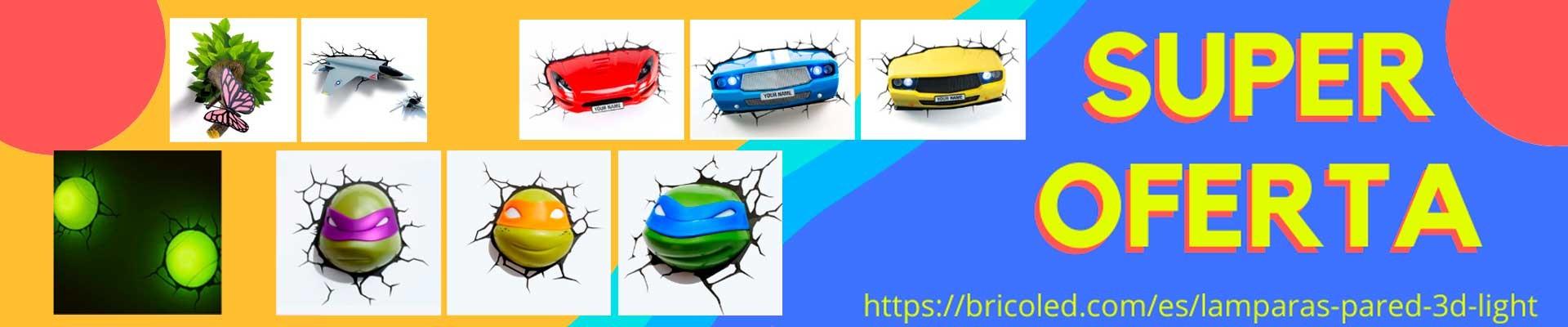 oferta especial luces 3D